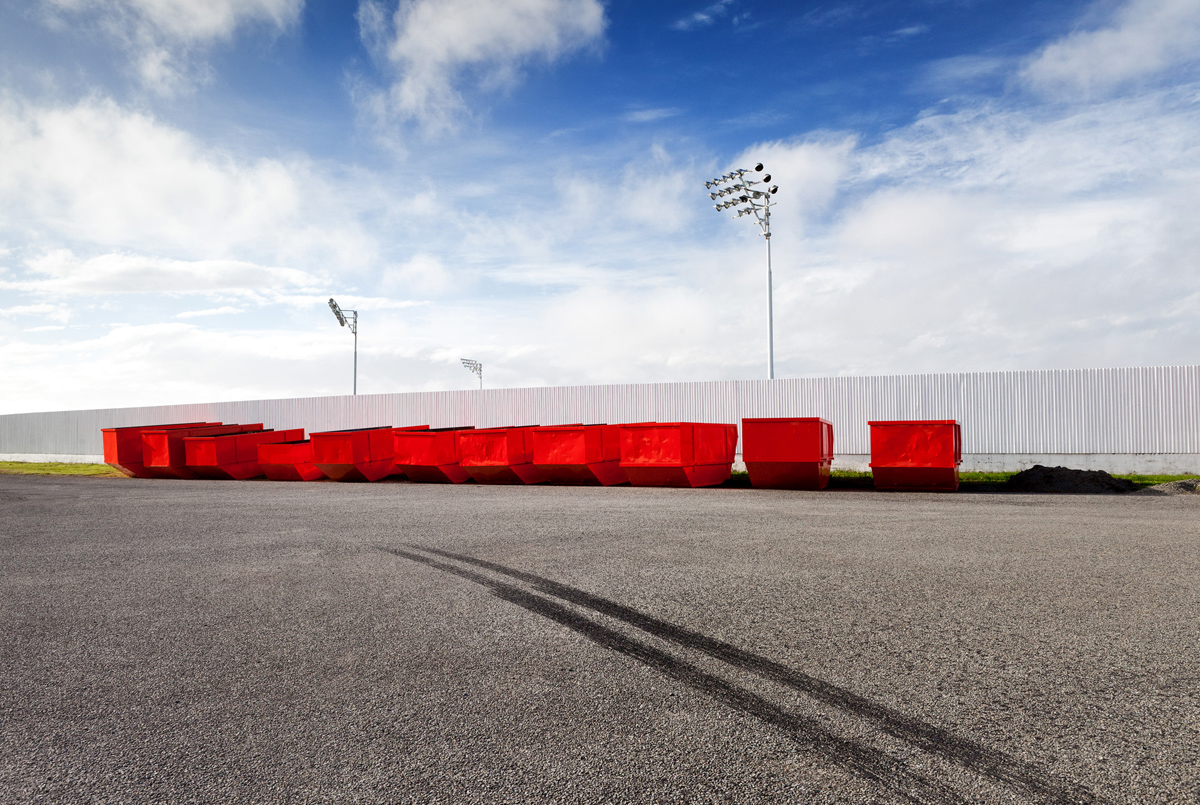 landscape racecourse red bins fine art photography photographer Canterbury Christchurch New Zealand