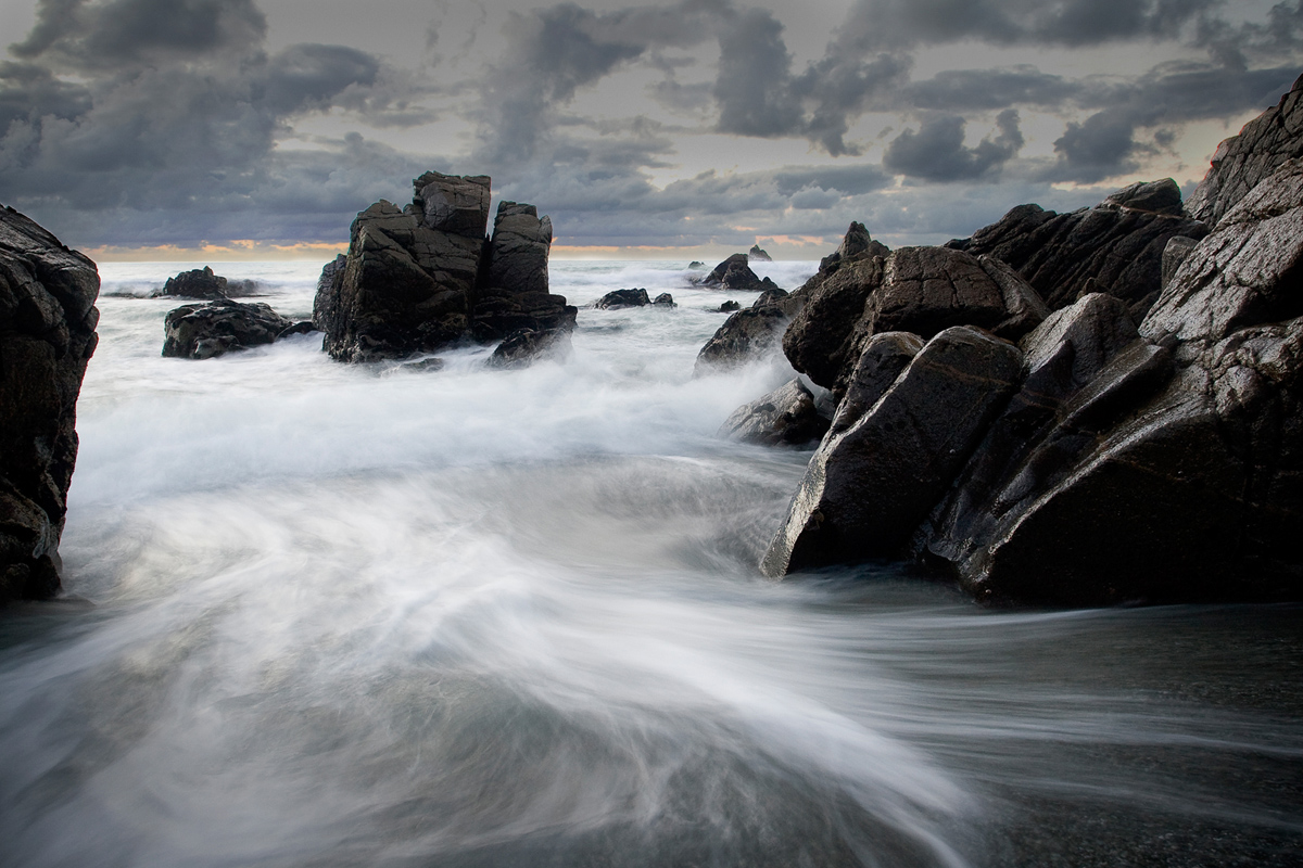 landscape seascape rocks motion slow shutter fine art photography photographer Canterbury Christchurch New Zealand