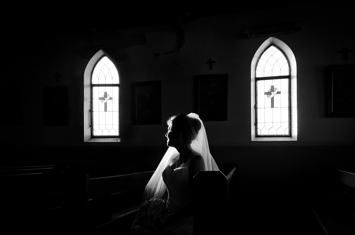 black white natural candid church wedding photography photographer Canterbury Christchurch South Island New Zealand