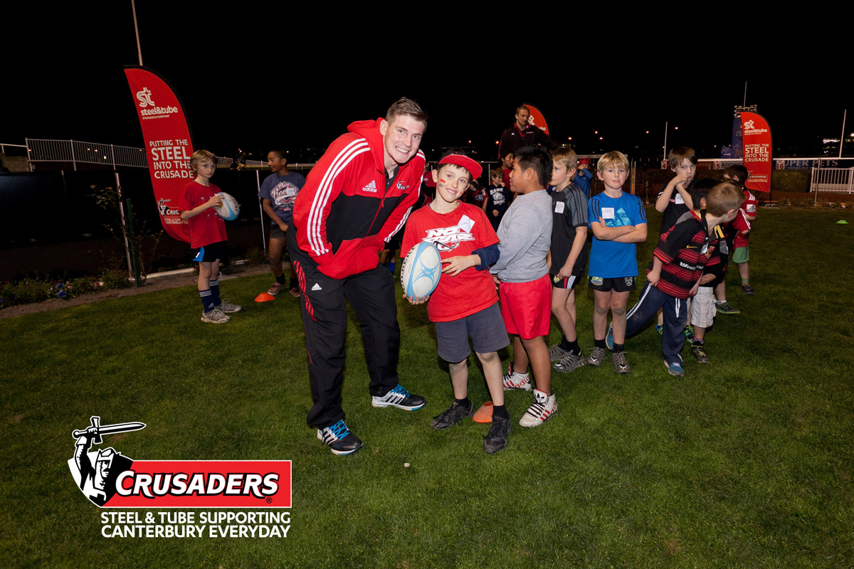 event PR rugby Crusaders kids function photography photographer Canterbury Christchurch New Zealand